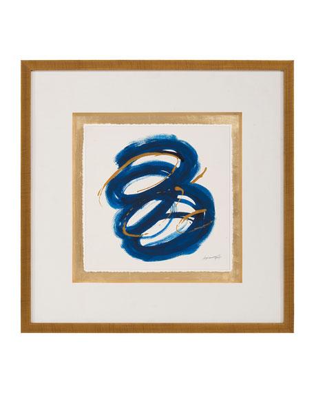 """John-Richard Collection """"Blue Gold III"""" Wall Art by Dyann Gunter"""