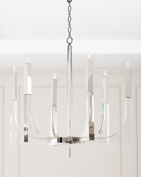 John-Richard Collection Acrylic & Nickel 6-Light Chandelier