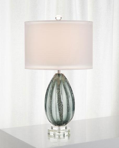 John-Richard Collection Rainstorm Blue Glass Table Lamp