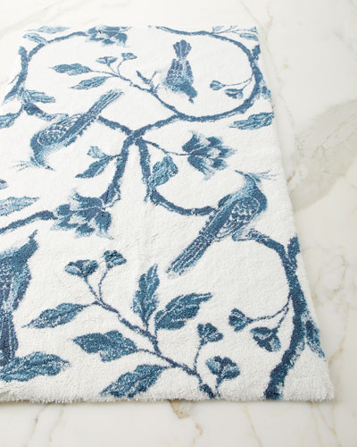 Blue Bird Bath Rug