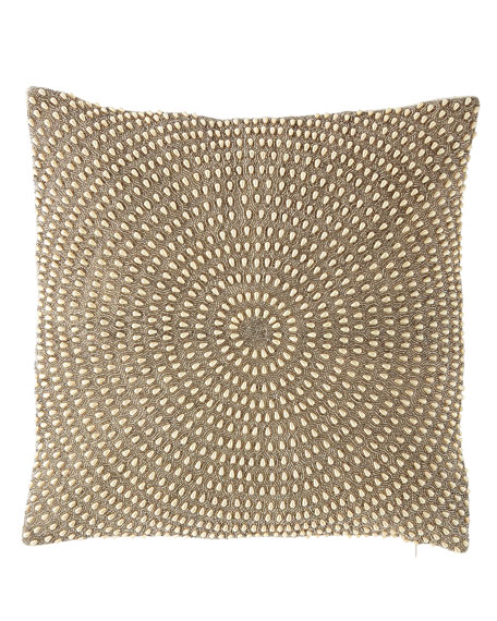 Isabella Collection by Kathy Fielder Sabrina Pearl Bead Embellished Pillow