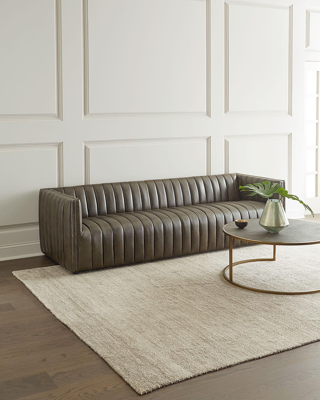 Picture of: Aldine Channel Tufted Leather Sofa 97 Neiman Marcus