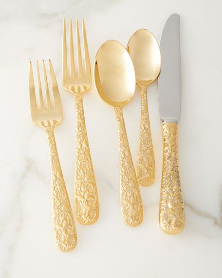 Towle Silversmiths 20-Piece Contessina Gold Flatware Set