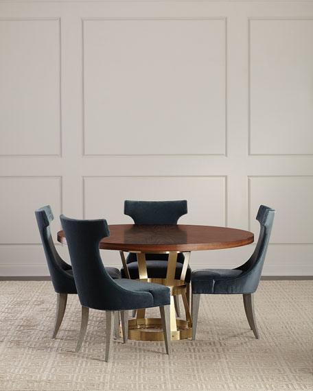 Round Walnut Dining Table
