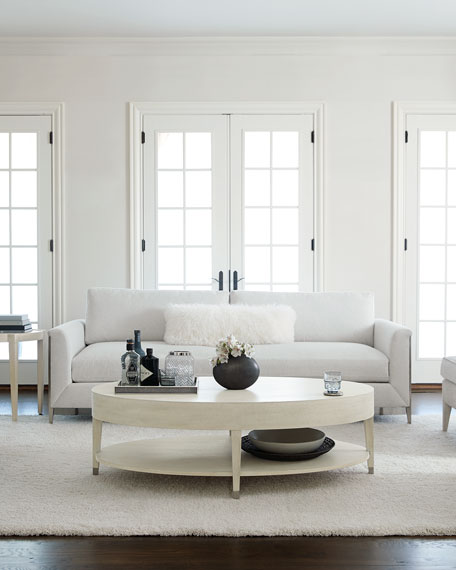 Image 1 of 4: Bernhardt East Hampton Oval Coffee Table