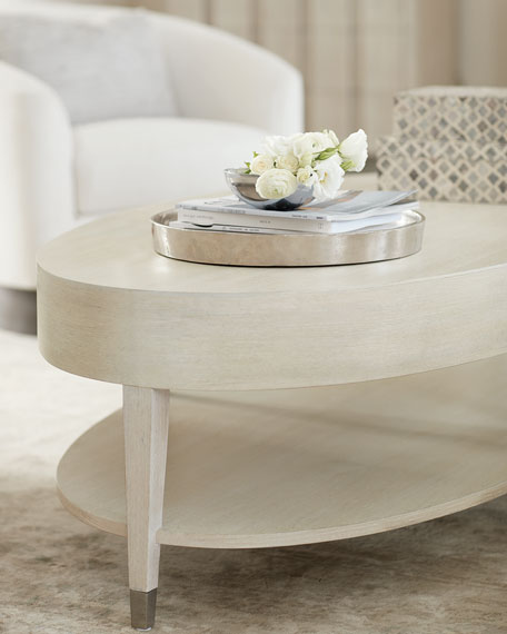 Image 2 of 4: Bernhardt East Hampton Oval Coffee Table