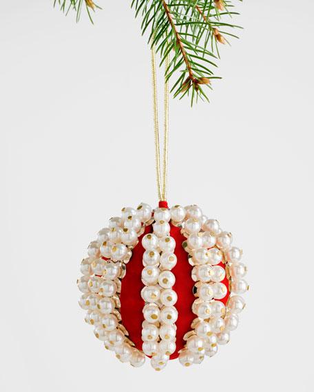 Joanna Buchanan Pearl Velvet Ball Ornament