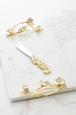 Michael Aram Cherry Blossom Small Cheese Board w/ Knife