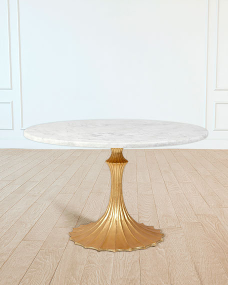 "Image 1 of 1: 48"" Marble Top Dining Table"