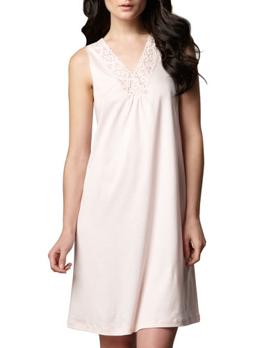 Hanro Moments Tank Gown, Rose