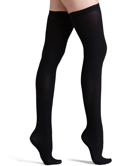 Commando Up All Night Opaque Thigh Highs, Black