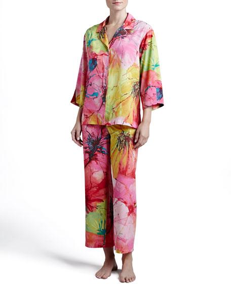 Gala Notch Satin Pajamas