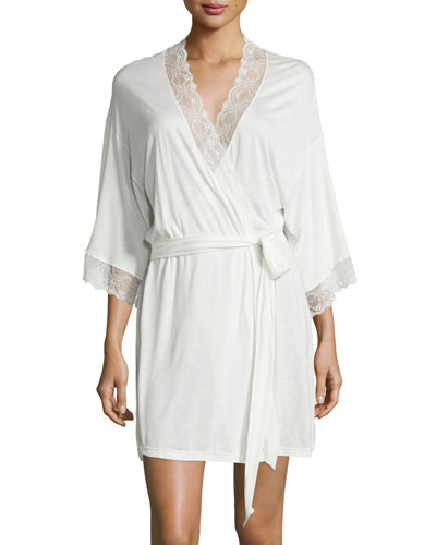 Magnolia Lace-Trimmed Robe