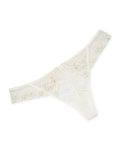 Plaisir Guipure Lace Thong
