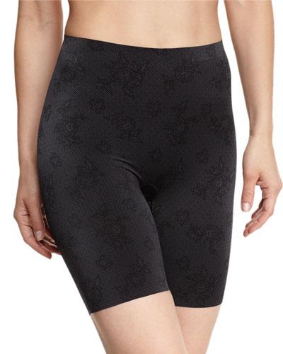 Pretty Smart Lace Print Mid-Thigh Shaper Shorts