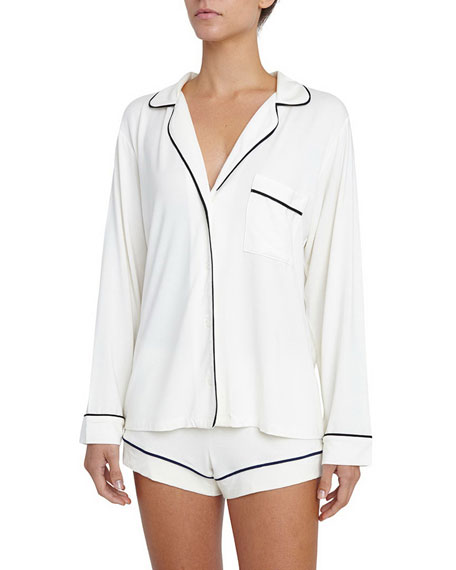 Gisele Long-Sleeve Short Pajama Set