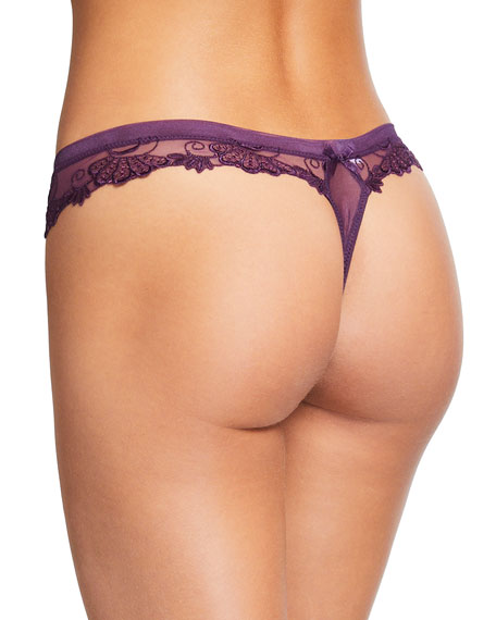 Dressing Floral-Lace Thong