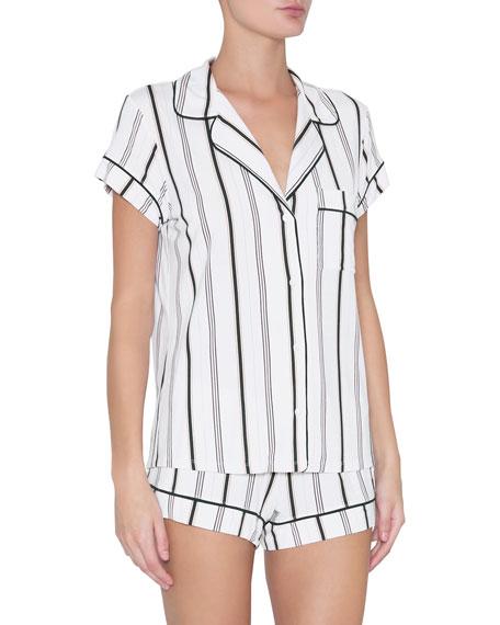 Eberjey Sleep Chic Short Jersey Pajama Set