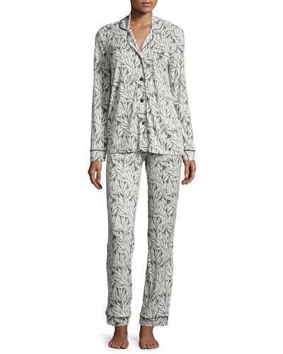 Bella Printed Jersey Pajama Set
