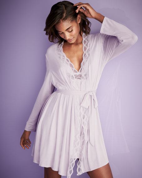 Georgina Lace-Trim Robe