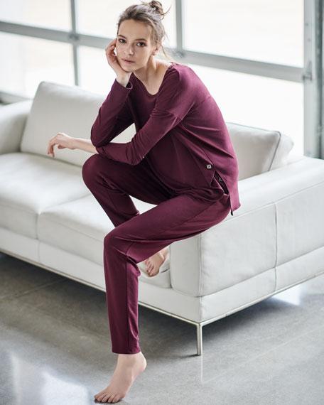 Natori Zen Long-Sleeve Lounge Top