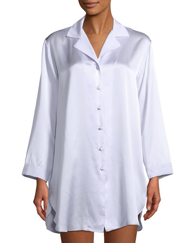 Garbo Silk Sleepshirt