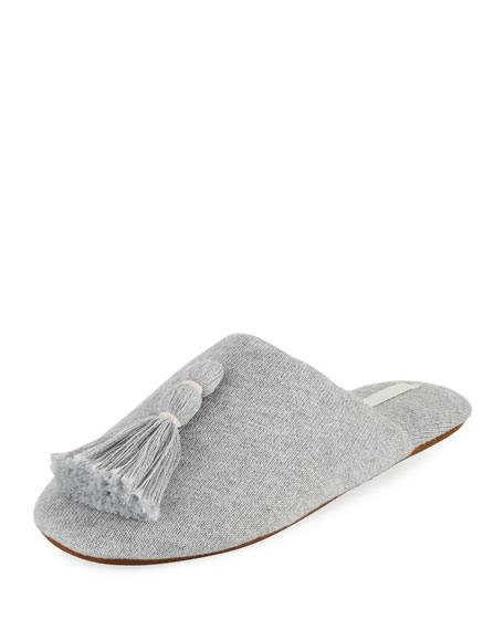 Vara Tasseled Knit Slipper with Cooling Material