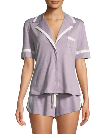 Bella Solid Shortie Pajama Set