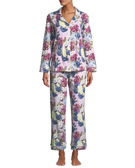BedHead Pajamas Plus Size Floral Jewels Classic Pajama Set