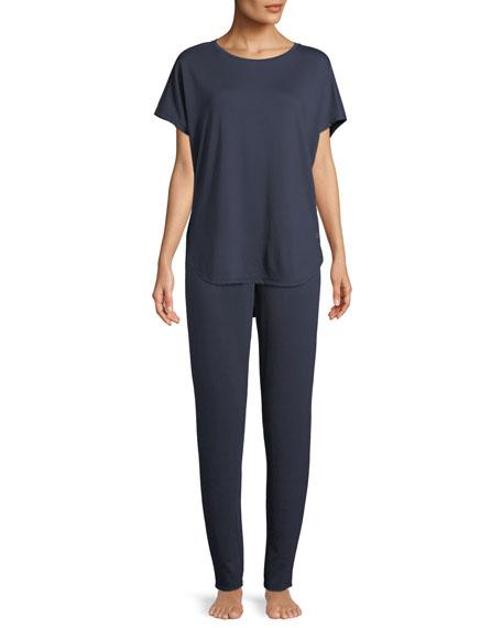 Natori Zen Short-Sleeve Caftan Top