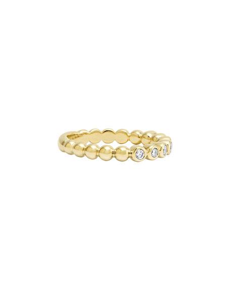 LAGOS Covet 18K 3mm Diamond Stacking Ring, Size 7