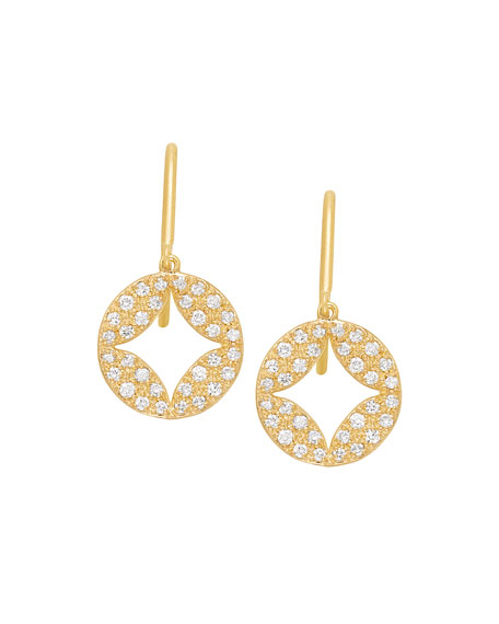 Aladdin 18k Pave Diamond Earrings