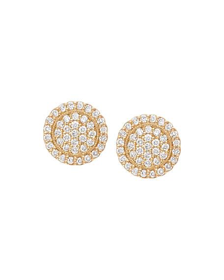 Scalloped Pave Diamond Stud Earrings