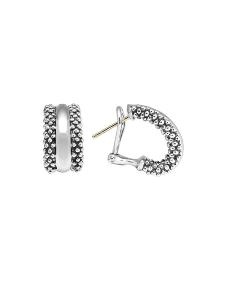 Signature Caviar Huggie Earrings