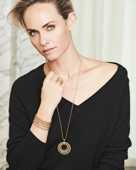 David Yurman Stax Chain Link Bracelet in 18k White Gold w/ Diamonds