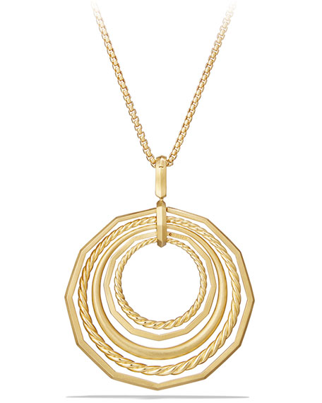 Stax 18k Gold Pendant Necklace with Diamonds, 36""