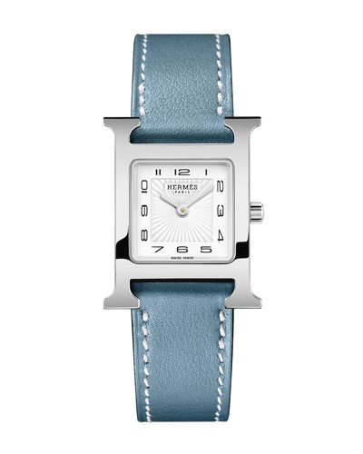 Heure H Watch, Stainless Steel & Alligator Strap
