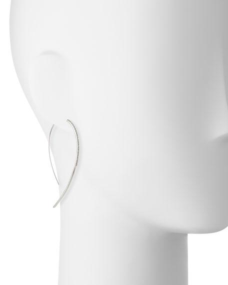 LANA Fatale Hooked on Hoops Diamond Earrings in White Gold
