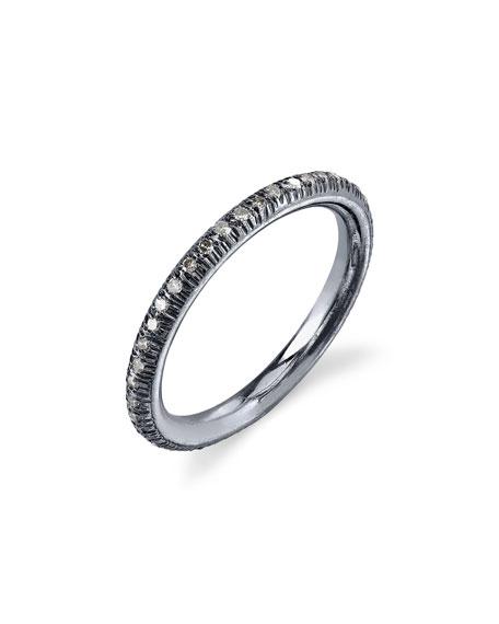 Sheryl Lowe Pave Diamond Donut Stacking Band Ring, Size 8