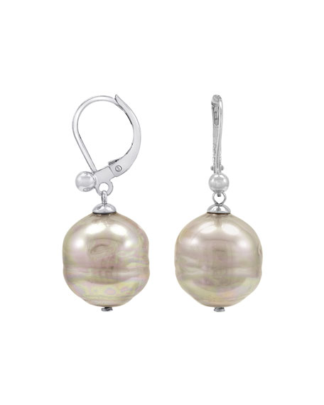 Majorica Baroque Pearl Earrings, Nuage