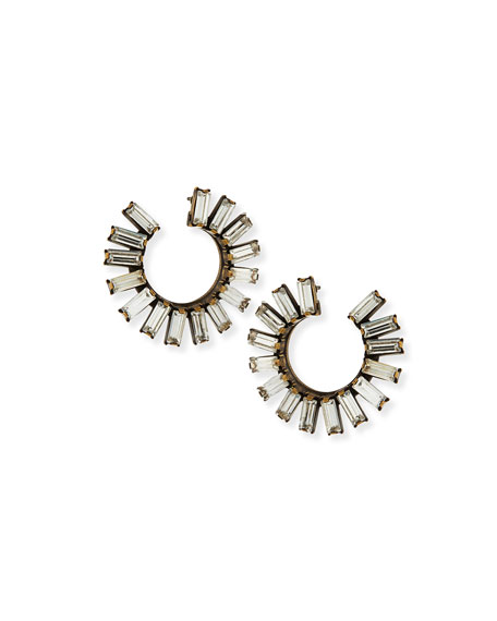 Image 1 of 2: Auden Stella Crystal Hoop Earrings