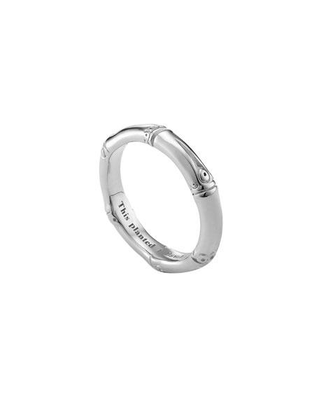 Silver Bamboo Band Ring