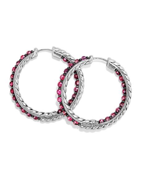 Osetra Faceted Stone Hoop Earrings