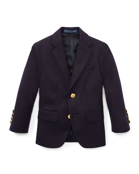 Lessona Wool Blazer, Navy, Size 5-7