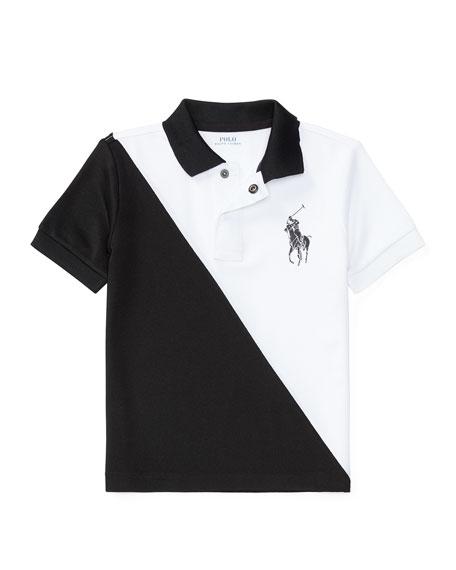 Ralph Lauren Childrenswear Colorblock Stretch Mesh Polo Shirt,