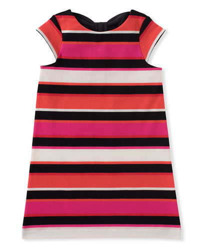 Girls Bow-Back Striped Shift Dress, size 7-14