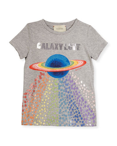 Galaxy Love Short-Sleeve T-Shirt, Size 4-12