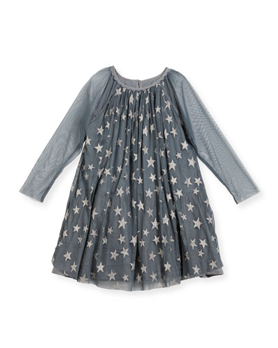 Tulle Star Dress, Girls' Sizes 4-14