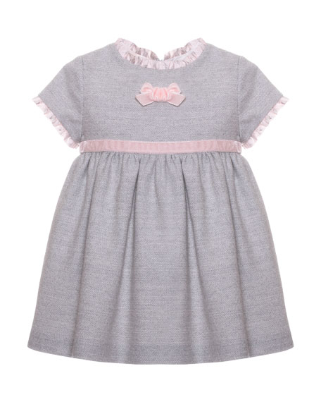 Patachou Ruffle Bow Dress, Size 3-24 Months