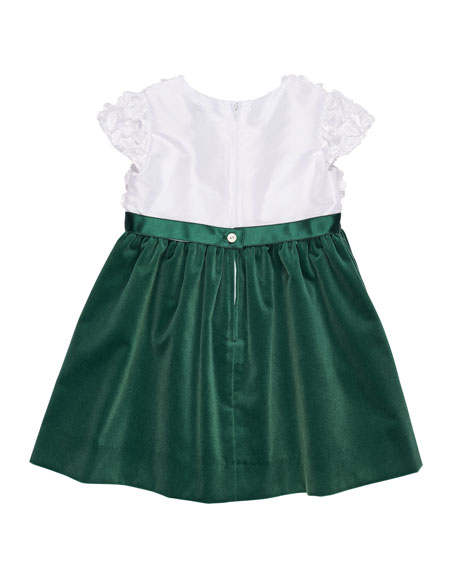 Flutter & Sequin Dress w/ Velvet Skirt, Size 3-24 Months